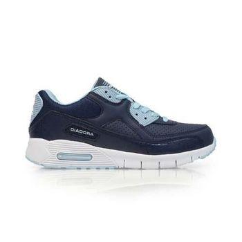 【DIADORA】女運動鞋 -路跑 慢跑 藍白
