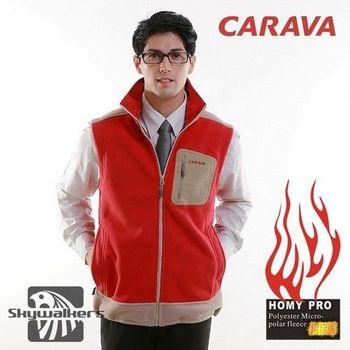 CARAVA男款厚刷毛背心(紅) HOMY PRO 400g/m2超厚細緻刷毛料