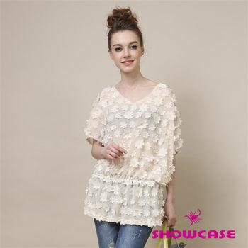 SHOWCASE花朵透膚網紗洋裝-156575C