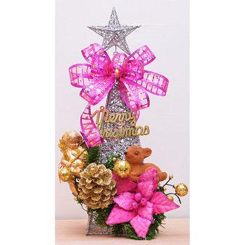 【X mas聖誕特輯】36cm-聖誕裝飾鐵塔+裝飾包 BT-5398