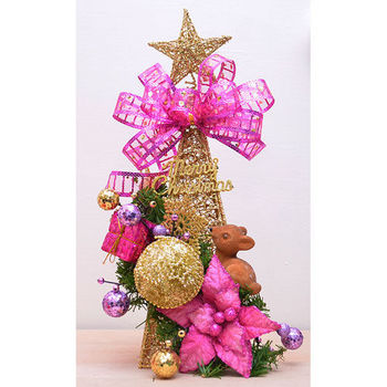 【X mas聖誕特輯】36cm-聖誕裝飾鐵塔+裝飾包 BT-5397