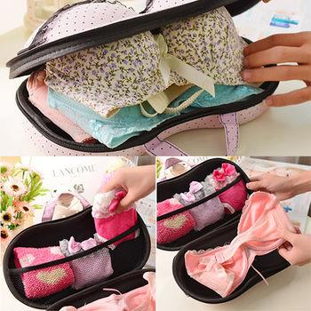 日韓熱銷 內衣 BRA 比基尼 胸罩 拉鍊收納盒/萬用旅行包 (1入)