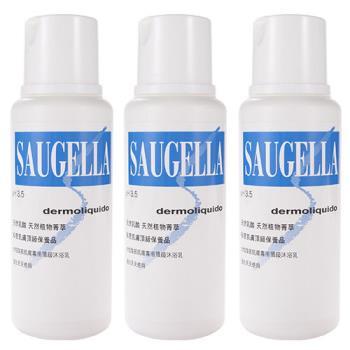 Saugella賽吉兒 菁萃潔浴凝露-日用型(250ml) 三入組