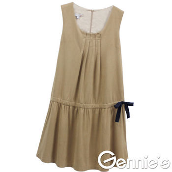 Gennie's奇妮 – 仿麂皮素面時尚典雅孕婦背心洋裝(G2Y51)