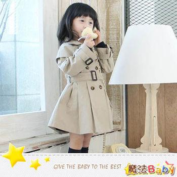 魔法Baby ~外套 女童歐風時尚風衣~女童裝~時尚設計童裝~k24609