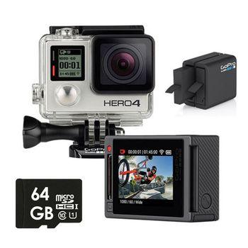 【64G原電組】GoPro HERO 4 專業銀色版 (公司貨)