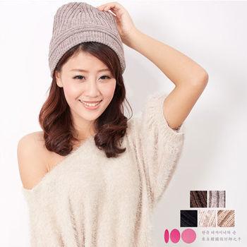【MIT台灣製】雙層扁帽+發熱紗 中性針織毛線帽(5色)