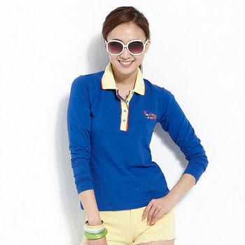 【ABEL FOXS】女版長袖 POLO 衫(F9346A-05)藍