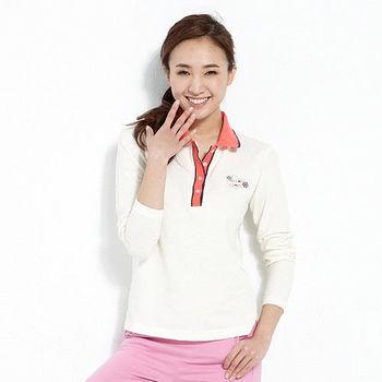 【ABEL FOXS】女版長袖 POLO 衫(F9344A-10)米白