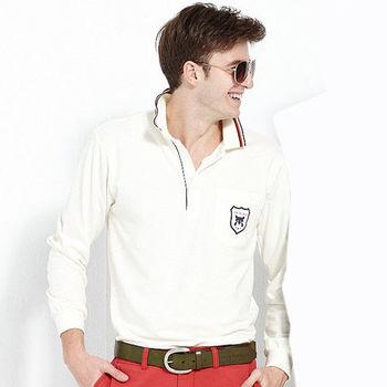 【ABEL FOXS】男版長袖 POLO 衫(F9336A-10)白