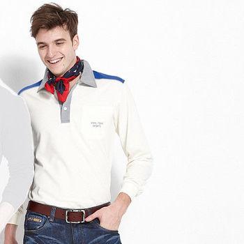 【ABEL FOXS】男版長袖 POLO 衫(F9342A-10)白