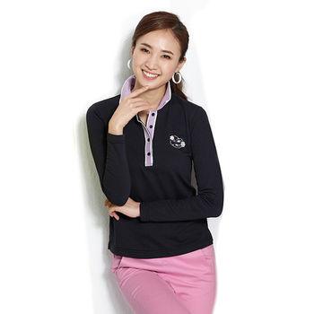 【ABEL FOXS】女版長袖 POLO 衫(F9343A-14)黑