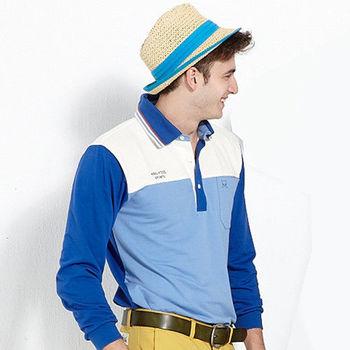 【ABEL FOXS】男版長袖 POLO 衫(F9332A-05)藍
