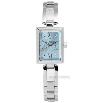 CITIZEN 星辰 WICCA / BE1-011-71 / 陳意涵廣告款 氣質優雅不鏽鋼腕錶 藍色 18mm