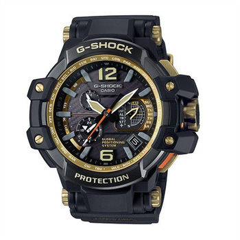 CASIO G-SHOCK 世界再進化GPS與最強六局電波接收極限強悍限量腕錶-黑金-GPW-1000GB-1A
