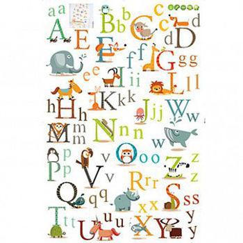 時尚壁貼 - 動物字母