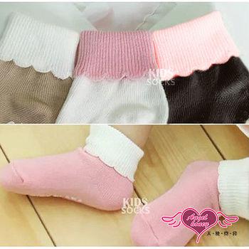 天使霓裳 花邊雙色反摺短襪兒童襪子-2雙入(四色) -CJ151112
