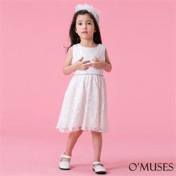 【OMUSES】蕾絲公主女童小禮服58-15203(100-140cm)