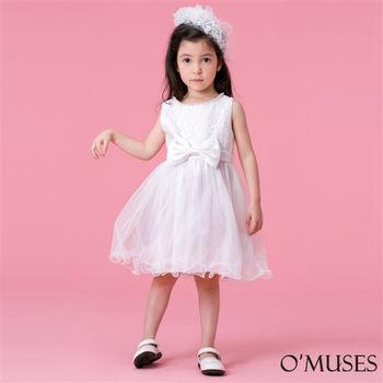 【OMUSES】蕾絲蝴蝶結女童禮服58-15202(100-140cm)