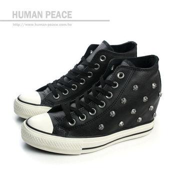CONVERSE Chuck Taylor All Star Lux 內增高 舞蹈運動鞋 戶外休閒鞋 黑 女款 no113