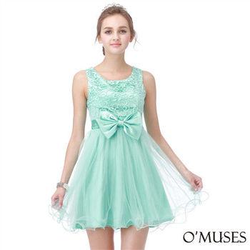 【OMUSES】法式蕾絲宴會小禮服17-15161(S-XL)