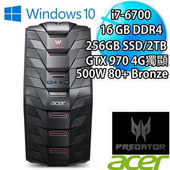 ACER Predator G3-710 I7-6700 16GBDDR4 256SSD+2TB硬碟 超強悍GTX970 4GB獨顯電競PC