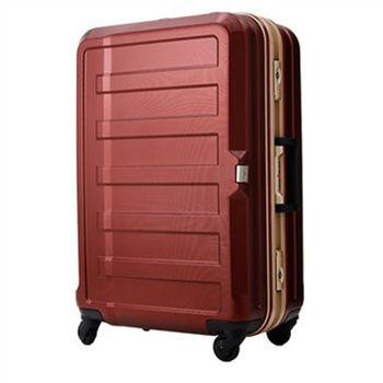 日本 LEGEND WALKER 5088-68-28吋 鋁框霧面輕量行李箱 銀紅