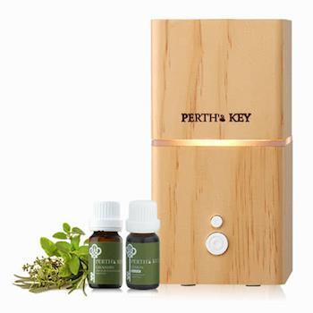 【PERTHS KEY栢司金】森呼吸淨氧機(水氧機)+精油二入組