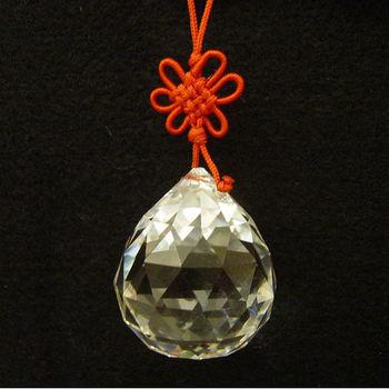 【開運陶源】 (大) 水晶球(風水球) 吊飾