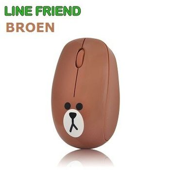 LINE FRIEND 限定版 熊大造型 2.4G 無線滑鼠 MA06_Brown