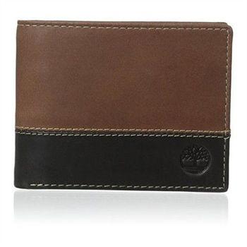 Timberland 2015男時尚Hunter黑棕雙色雙折色皮夾(預購)