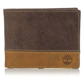 Timberland 2015男時尚Hunter深褐棕雙色雙折色皮夾(預購)