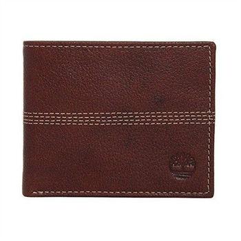 Timberland 2015男時尚Quaz深棕薄型雙折色皮夾(預購)