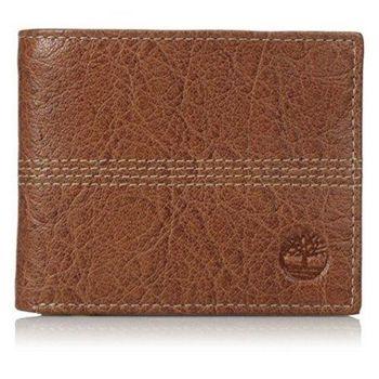 Timberland 2015男時尚Quaz白蘭地色 薄型雙折色皮夾(預購)