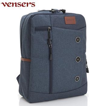 【Vensers】簡約丹寧牛仔後背包(R00061601寶藍)
