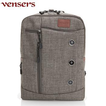 【Vensers】簡約丹寧牛仔後背包(R00061604深灰)