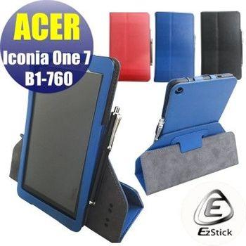 【EZstick】ACER Iconia One 7 B1-760 HD K9PW 平板專用皮套(背夾旋轉款式)