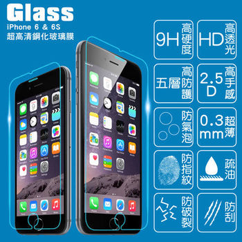 【GLASS】9H鋼化玻璃保護貼(適用I Phone6/6s)