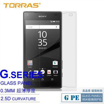 【TORRAS圖拉斯】Sony Xperia Z5 Compact (Z5 MINI) 鋼化玻璃貼 G PE 系列 9H硬度 2.5D導角 加送面條線