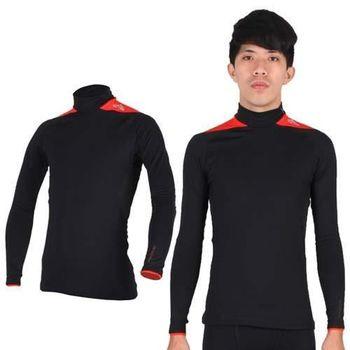 【ADIDAS】男保暖機能長袖上衣- 愛迪達 長T恤  刷毛 黑橘