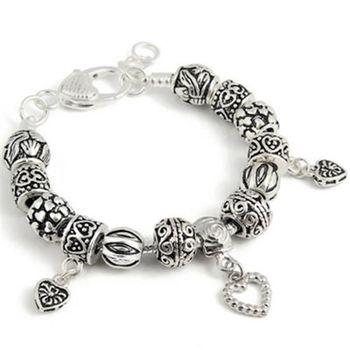 【米蘭精品】925純銀手鍊潘朵拉元素串珠純銀飾品