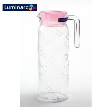 【Luminarc樂美雅】浮雕刻花玻璃冷水壺1.1L