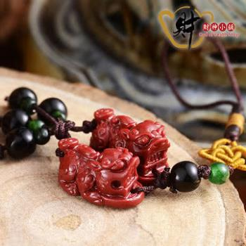 【財神小舖】紅珊瑚貔貅小吊飾(海竹)《含開光》招財貔貅、神獸轉運、正財偏財、投資營利