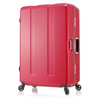 日本 LEGEND WALKER 6703-70-29吋 電子秤鋁框輕量行李箱 橘紅