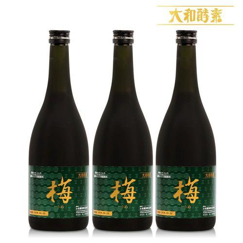 【寶媽代言】日本原裝大和紀州梅精萃本草酵素(720ml/瓶)x3瓶