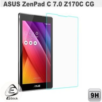 【EZstick】ASUS ZenPad C 7.0 Z170 平板專用 鏡面鋼化玻璃膜 靜電吸附