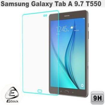 【EZstick】Samsung Galaxy Tab A 9.7 T550 平板專用 鏡面鋼化玻璃膜 靜電吸附
