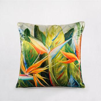 【協貿】中國風加厚仿真絲植物花卉第五款抱枕含芯