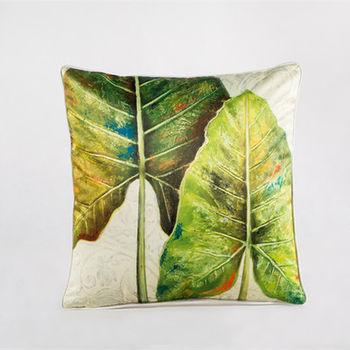 【協貿】中國風加厚仿真絲植物花卉第二款抱枕含芯