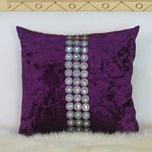 【協貿】奢華古典排扣裝飾絲絨抱枕含芯